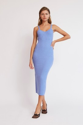 Finders Keepers ELIA KNIT DRESS Blue