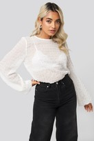 NA-KD Round Neck Structured Blouse