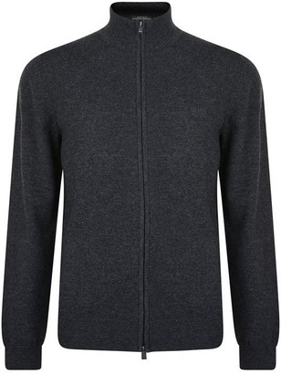 HUGO BOSS Wool Zip Cardigan