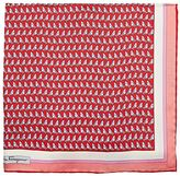Salvatore Ferragamo Men's Sailboat-Print Silk Pocket Square