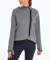 Marika Women's Non-Denim Casual Jackets QUIET - Quiet Shade Contrast-Trim Pocket Nicci Hooded Jacket - Women & Plus