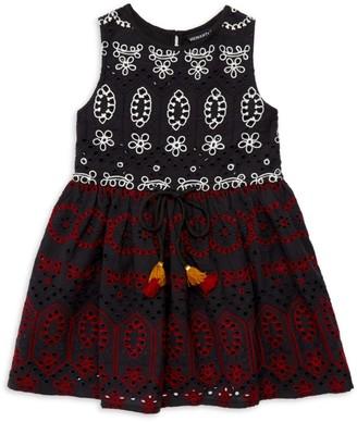 HEMANT AND NANDITA Little Girl's & Girl's Sleeveless Eyelet Dress