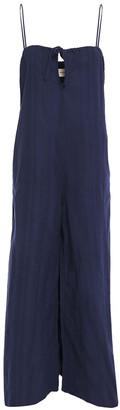 Mara Hoffman Asta Bow-detailed Organic Cotton-jacquard Wide-leg Jumpsuit