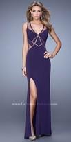 La Femme Illusion Laser Cut Gown