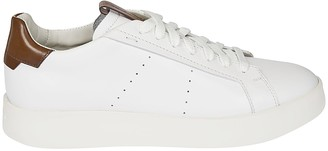 Santoni Side Perforated Lace-up Sneakers