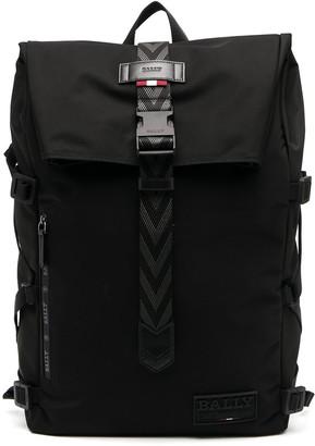 Bally Foldover Logo Backpack