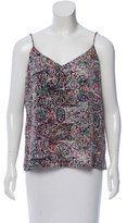 L'Agence Silk Pattern Printed Top
