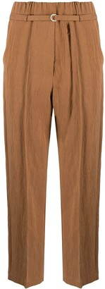 Alysi Belted Cropped Trousers