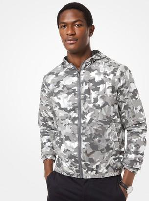 Michael Kors Camouflage Foil Print Jacket