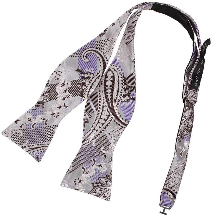 for Formal Occasions New Men/'s Paisley White Ascot Cravat Tie and Handkerchief
