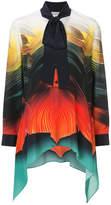 Mary Katrantzou Flight Feather print Hearts shirt