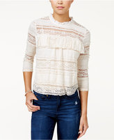 American Rag Lace Mock-Neck Top, Only at Macy's