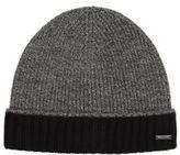 Hugo Boss Frisk Wool Knit Beanie Hat One Size Black