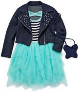 Knitworks Knit Works Short Sleeve Drop Waist Dress - Preschool Girls