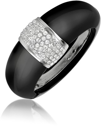 A-Z Collection Black Bangle Bracelet
