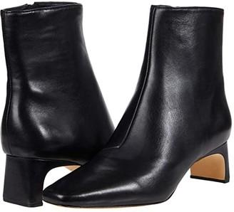 Loeffler Randall Lennon Mid-Heel Square Toe Ankle Boots (Black) Women's Boots