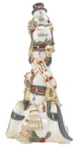 Fitz & Floyd Mistletoe Merriment Musical Figurine-We Wish You a Merry Christmas