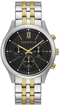 Caravelle Designed by Bulova Men's 45A143 Two-tone Stainless Chrono Bracelet Watch