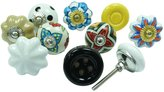 Ibacrafts Ceramic Drawer Pull Kitchen Knobs Lot Of 10 Pcs Multicolor Cabinet Hardware