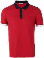 Moncler contrast trim polo shirt