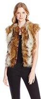 Twelfth Street By Cynthia Vincent Women's Cap Sleeve Faux Fur Vest