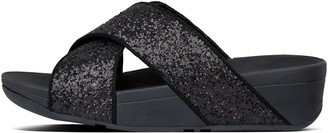 FitFlop Lulu Glitter Cross Slides