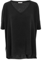 Minnie Rose T39131C16 Cashmere Short Sleeve Boyfriend In Black