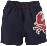 City Threads Crab Applique Swim Trunks (Baby) - Navy-9-12 Months