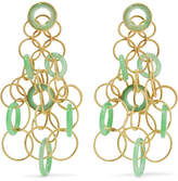 Buccellati Hawaii 18-karat Gold Jade Earrings
