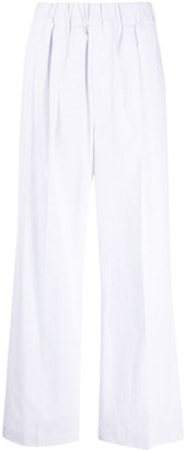 Jejia Check-Print Flared Trousers