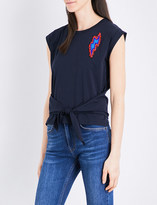 Sandro Fahdy bead-embellished cotton T-shirt