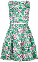 Yumi Floral Print Belted Dress