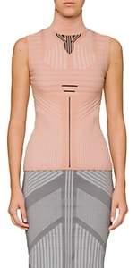 Prada Women's Geometric-Pattern Turtleneck Top - Light, Pastel pink