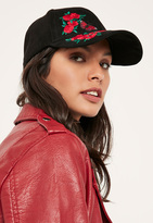 Missguided Black Embroidered Patch Cap