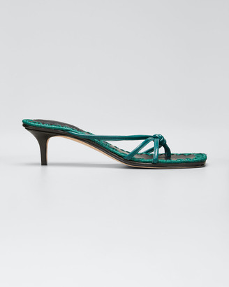 Mara & Mine Azeline Strappy Leather Thong Sandals