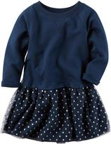 Carter's Girls' Layered-Look French Terry Dress