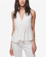 Free People Twist And Shell Embroidered Top