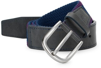 Robert Graham Oaisis Textured Fabric & Leather Belt