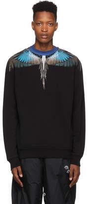 Marcelo Burlon County of Milan Black and Blue Wings Sweatshirt