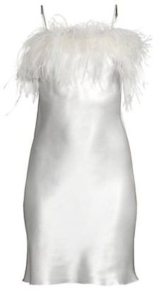 Gilda and Pearl Camille Feather Trim Short Slip