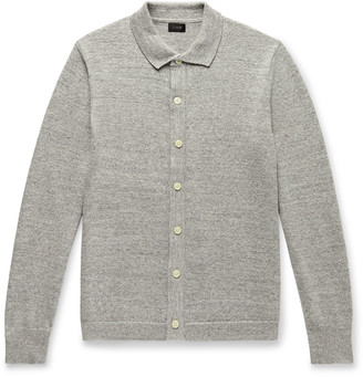 J.Crew Melange Cotton And Wool-Blend Cardigan