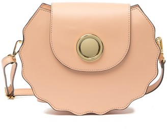 Persaman New York Daria Leather Scalloped Shoulder Bag