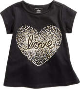 First Impressions Love-Print Cotton T-Shirt, Baby Girls, Created for Macy's