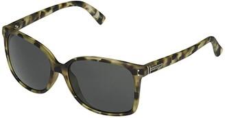Von Zipper VonZipper Castaway (Dusty Tortoise Satin/Grey) Fashion Sunglasses