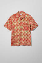 Weekday Skyway Hundred Short Sleeve Shirt - Beige