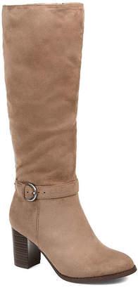 Journee Collection Womens Joelle Stacked Heel Zip Dress Extra Wide Boots