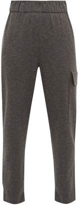 Tibi Drawstring Cuff Trousers - Womens - Grey