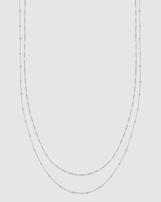 Elli Jewelry Necklace Basic Double Chain in 925 Sterling Silver