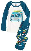 Tea Collection Boy's Fish & Chips Fitted Two-Piece Pajamas