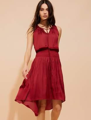 Halston Smocked waist memory satin dress